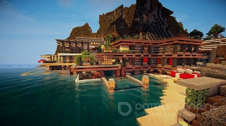 Карта Luxurious Cove House для minecraft