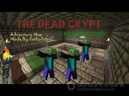 Карта The Dead Crypt - Adventure Map для minecraft