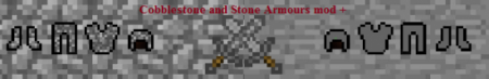 Мод Cobblestone And Stone Armour для minecraft 1.7.2