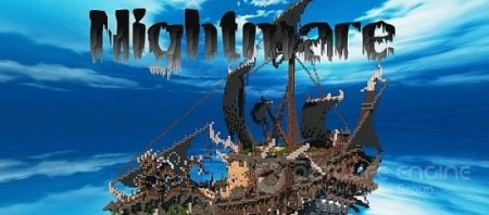 Карта NIGHTMARE | Fantasy Ship для minecraft